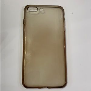 Brown sheer iPhone 8 Plus phone case - silicone